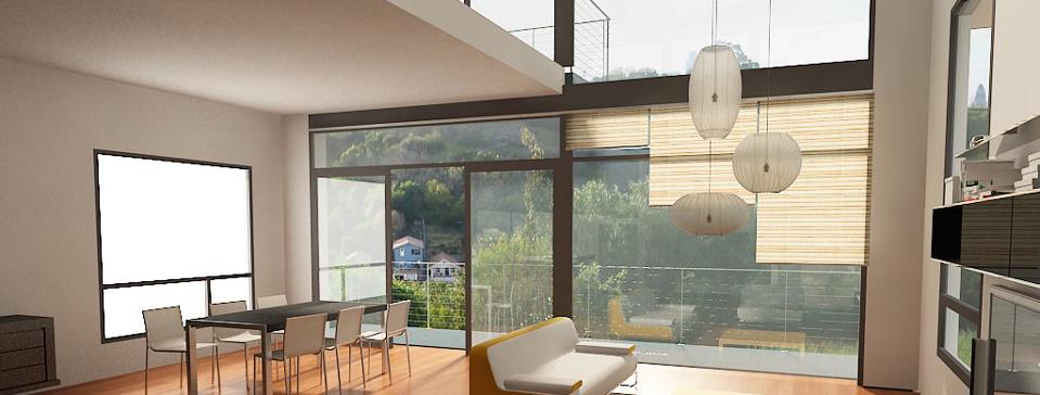 Los Angeles Contemporary Interior Design -- Park Row project